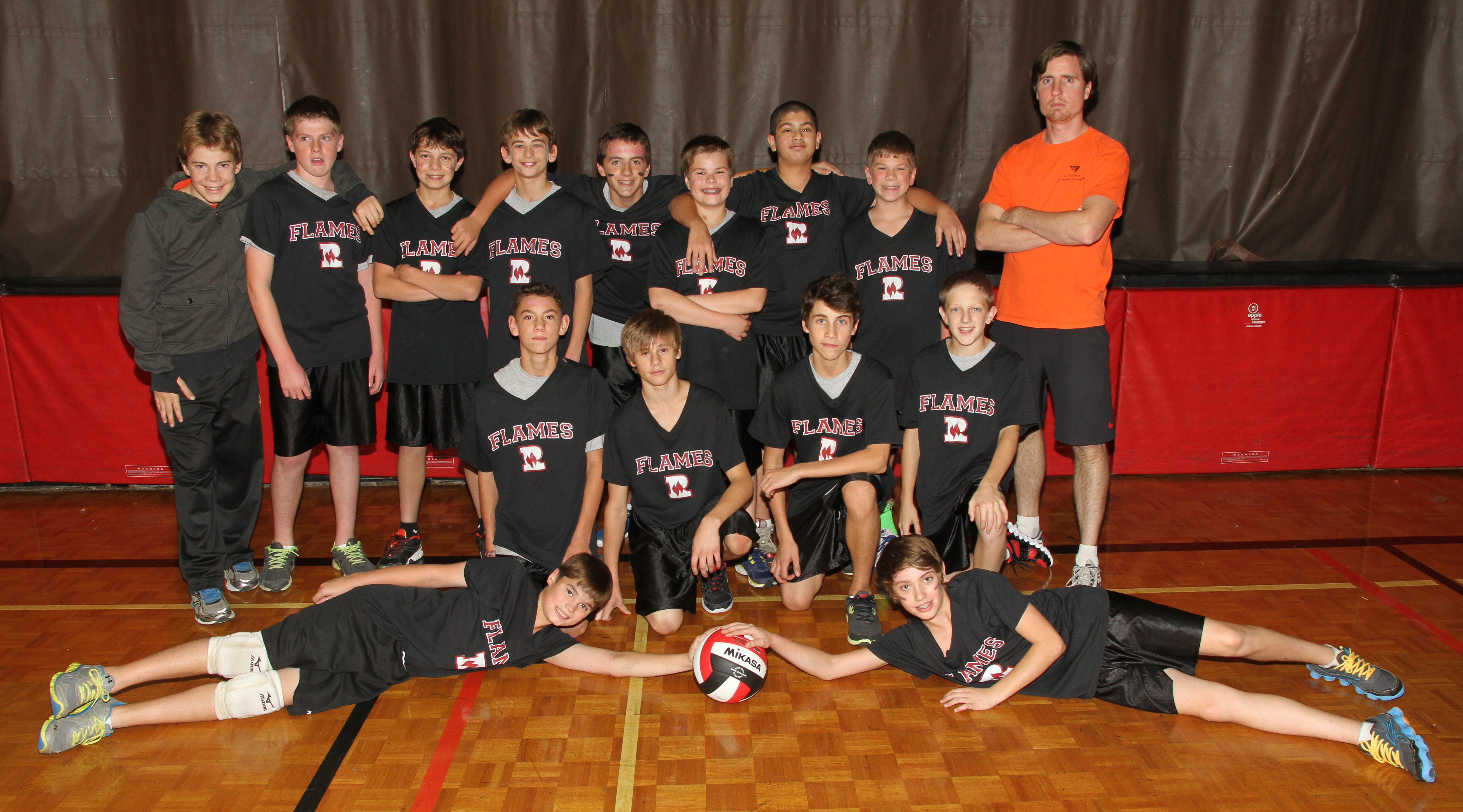 grade 7 8 boys volleyball team makes it to playoffs rockway